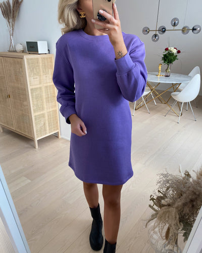 Chilli ls long sweat dress dahlia purple