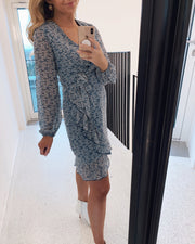 Greto blue/flower dress