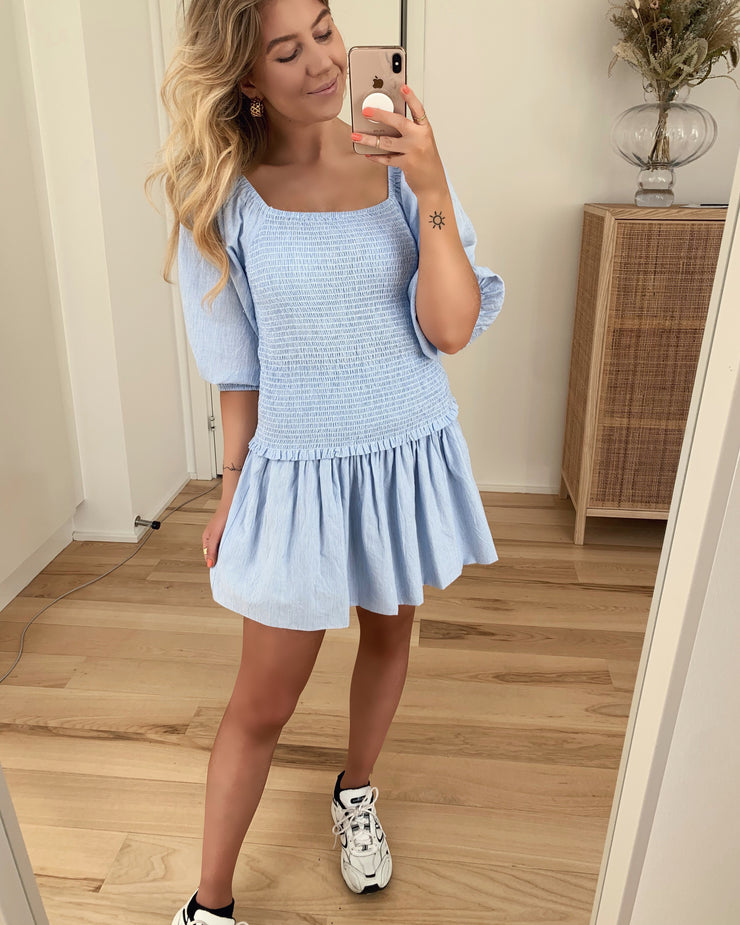 Irma ss top blue/white
