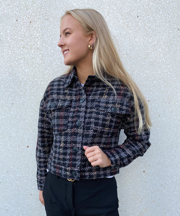 Melly jacket black check