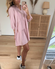Musthave boho 3/4 tunic pale mauve