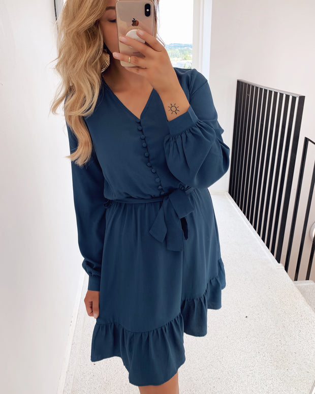 Gliss dress dusty blue