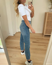 Leah mom high waist jeans light blue denim