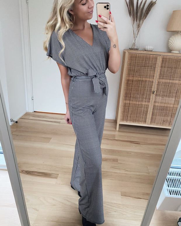 Girl jumpsuit black/cream