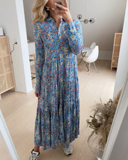 Santos ls long shirt dress dusk blue