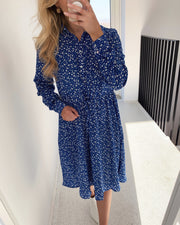 Vike dress blue flower