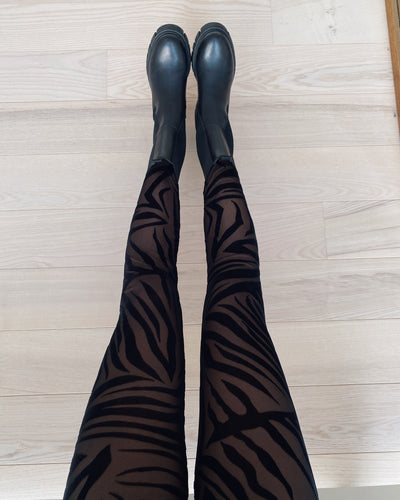 Gia leggings black/zebra