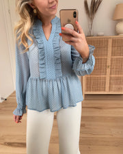Ilse blouse light blue