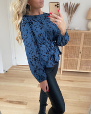 Gew top blue cloud/black
