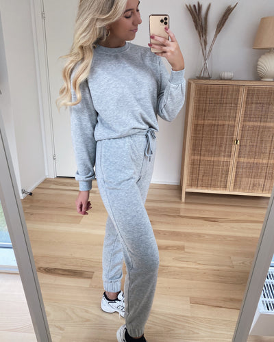 Natalia high waist sweat pant light grey
