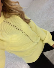 Rima ls knit yellow