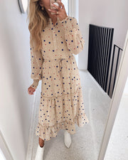 Abbey dress bamboo/dot