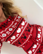 Christmas blouse red - FORUDBESTILLING