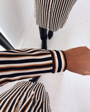 Vaia dress stripes