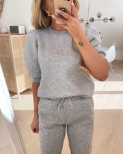 Peva puff sweat l. grey mel.
