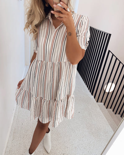 Gloss stripe dress - FORUDBESTILLING