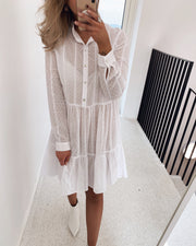 Elin shirtdress white