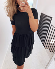 Cris t-shirtdress black