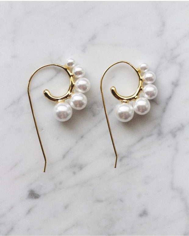 Mix pearl earrings