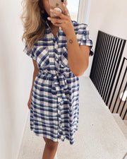 Gables shirtdress blue/cream