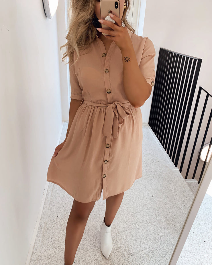 Nutti shirtdress camel