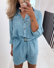 Beta jumpsuit blue wash