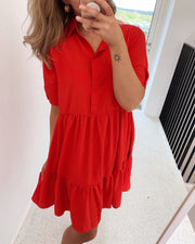 Gloss t-shirtdress red