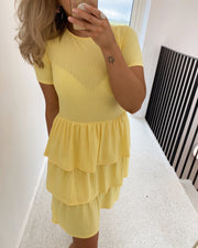 Cris t-shirtdress yellow