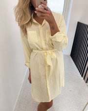 Elbe shirtdress yellow/white