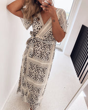 Gush maxidress cream/leo