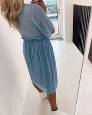 Skaga midi dress light blue