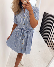 Nutti shirtdress white/blue