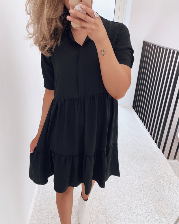 Gloss t-shirtdress black