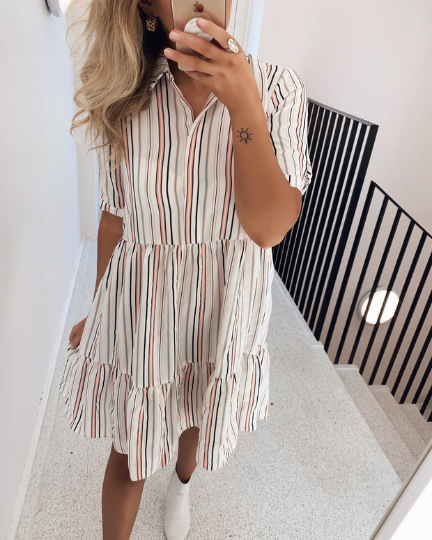 Gloss stripe dress