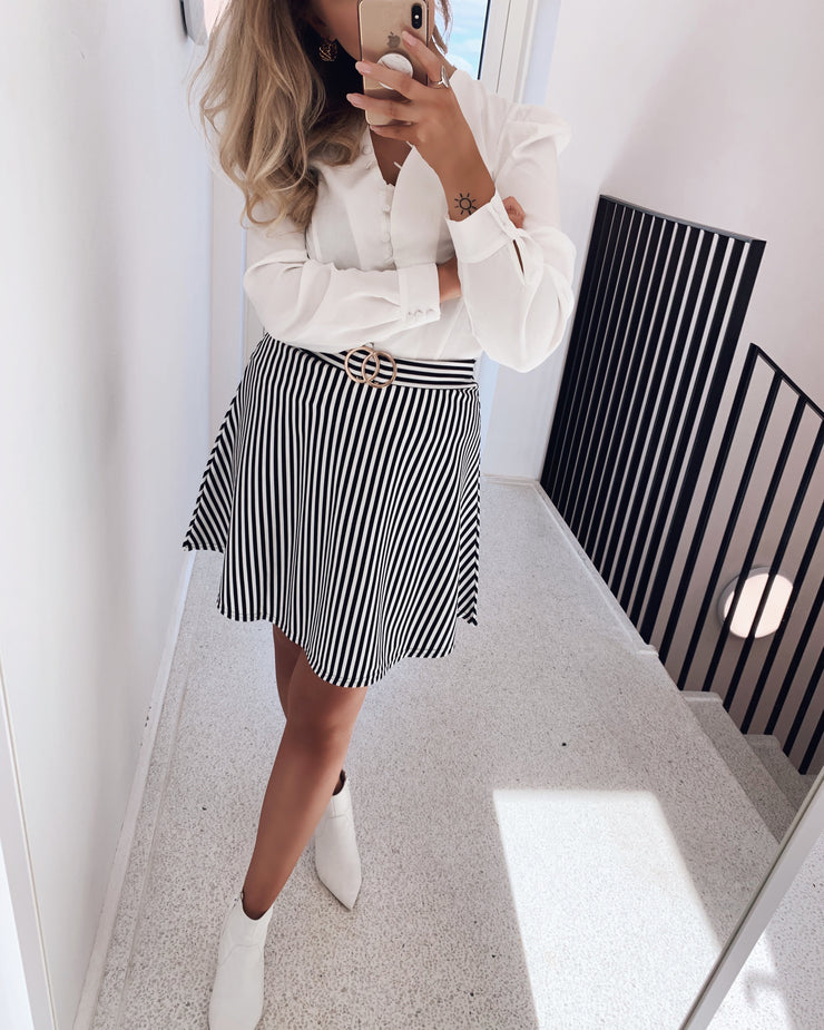 Galma striped skirt