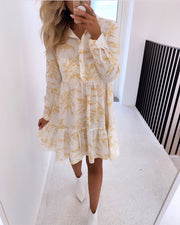 Gloss dress cream/yellow