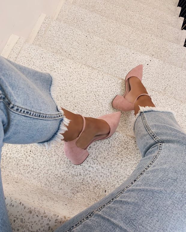 Pointed toe sandal rosa