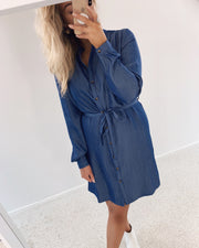 Valsi denim shirtdress