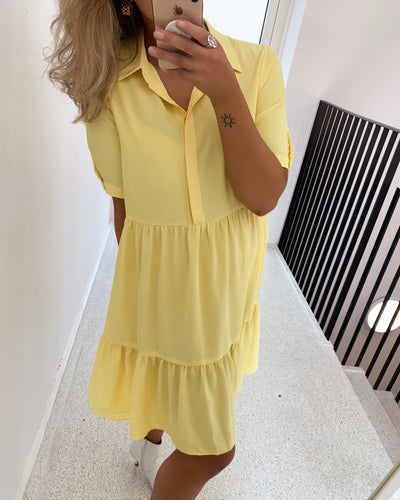Gloss t-shirtdress yellow