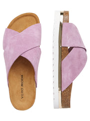 Lisa leather sandal opera mauve