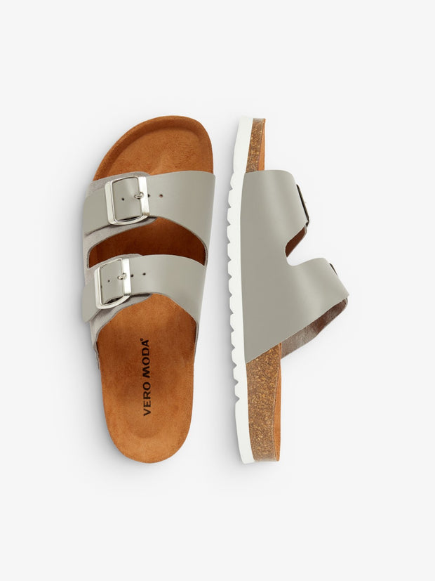 Carla leather sandal frost gray