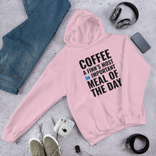 Load image into Gallery viewer, Coffee Meal of the Day Unisex Hoodie