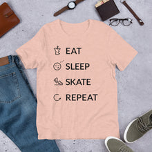 Load image into Gallery viewer, Eat Sleep Skate Repeat Unisex T-Shirt
