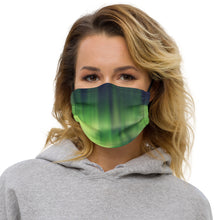 Load image into Gallery viewer, Northern Lights (Emerald) Face mask