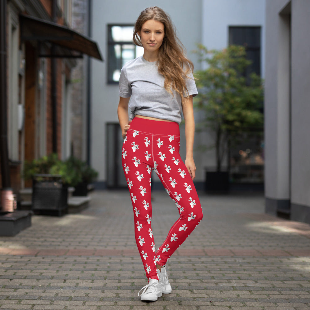 Reindeer Yoga Leggings