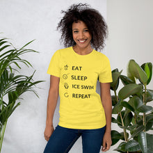 Load image into Gallery viewer, Eat Sleep Ice Swim Repeat Unisex T-Shirt