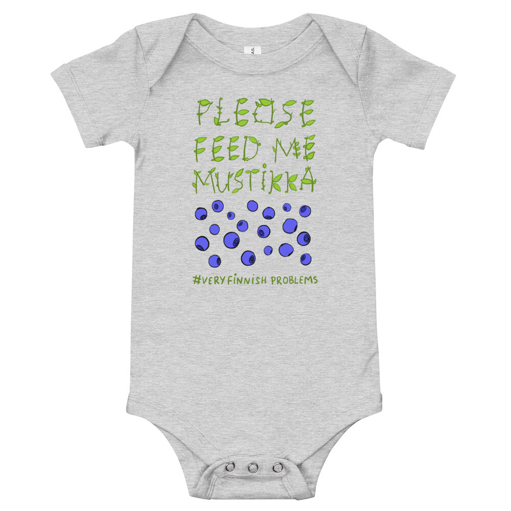 Feed Me Mustikka Baby Short Sleeve Bodysuit