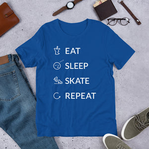 Eat Sleep Skate Repeat Unisex T-Shirt