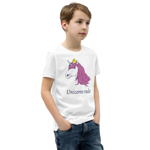 Unicorns Rule Youth Short Sleeve T-Shirt