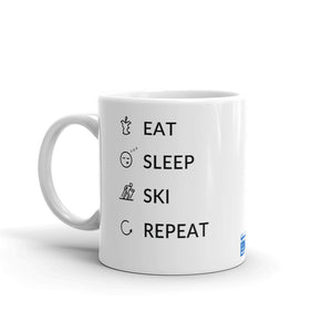 Eat Sleep Ski Repeat Mug